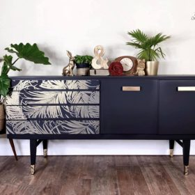 Sideboard black and gold