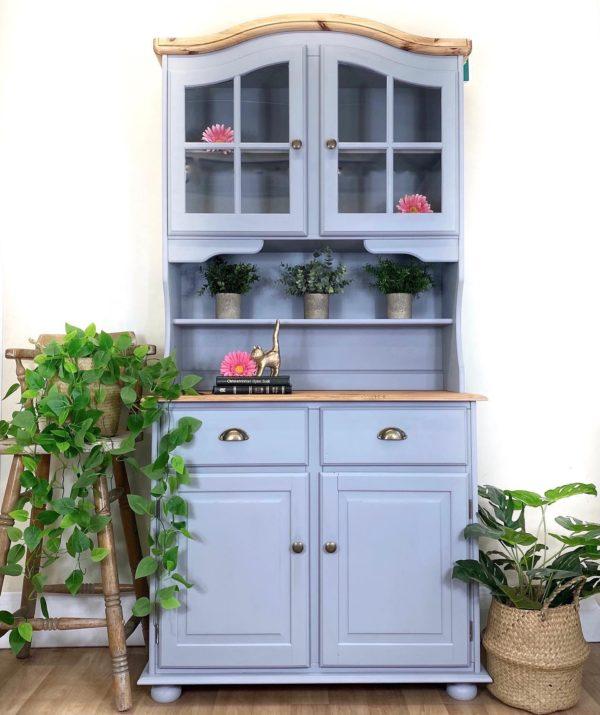 painted welsh dresser grey 1