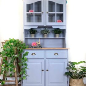 painted welsh dresser grey