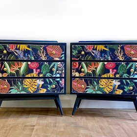 Retro Upcycled Bedside Tables
