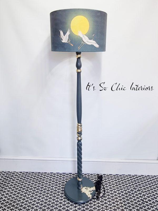 Japanese Crane standard lamp