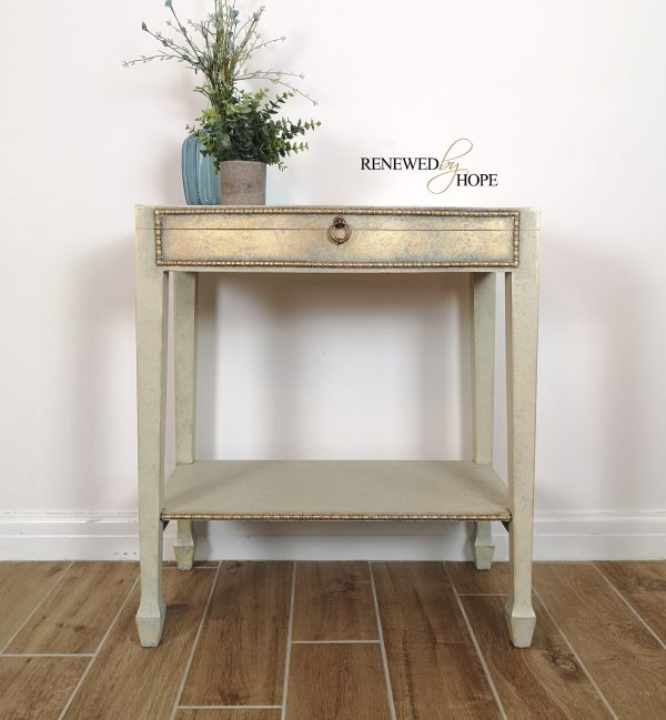 Cream Gold side table 3 scaled