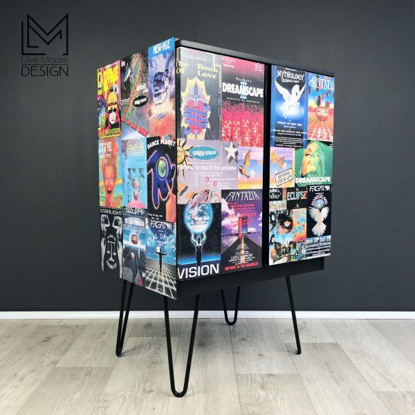 90s Rave Inspired Vinyl Record Cabinet