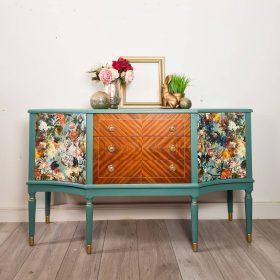 Upcycled Sideboard Turquoise