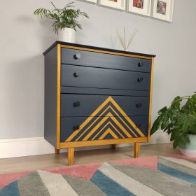 Geo Metric Painted Chest Of Drawers