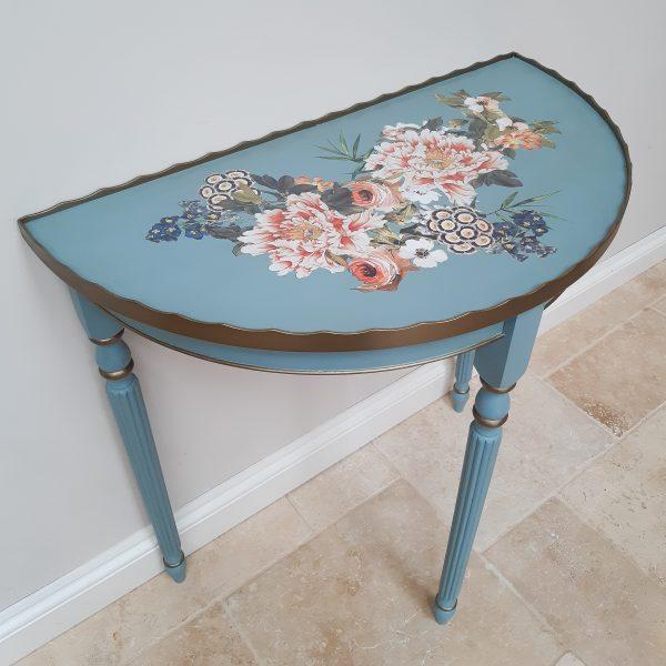 Demi-lune Vintage Console Table