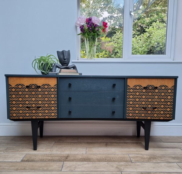 Painted upcycled mid century modern sideboard No new 1 scaled