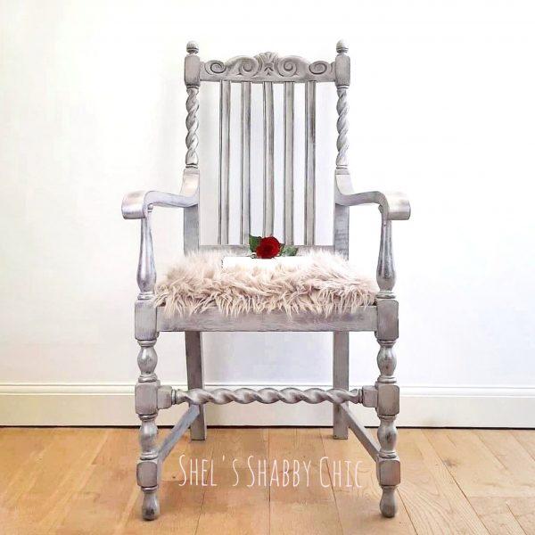 Unique-Antique-Carver-Chair-Shels-Shabby-Chic-Stotfold