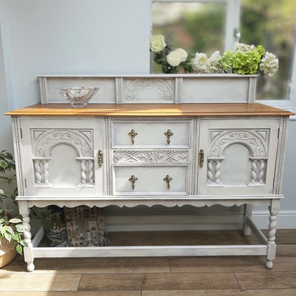 Upcycled painted Jacobean Sideboard Dresser Buffet No 1 1 scaled