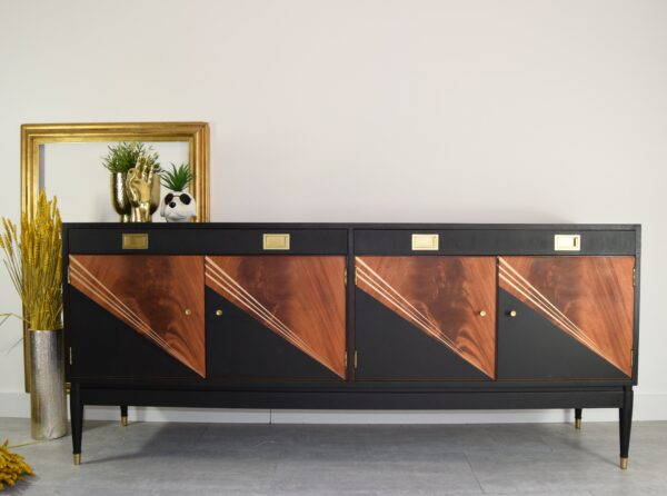 Black geometric greaves and thomas sideboard scaled