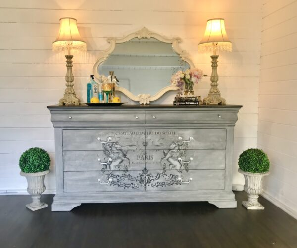 French painted bedroom furniture chest of drawers buffet autentico venice paint crafty nest 1 scaled