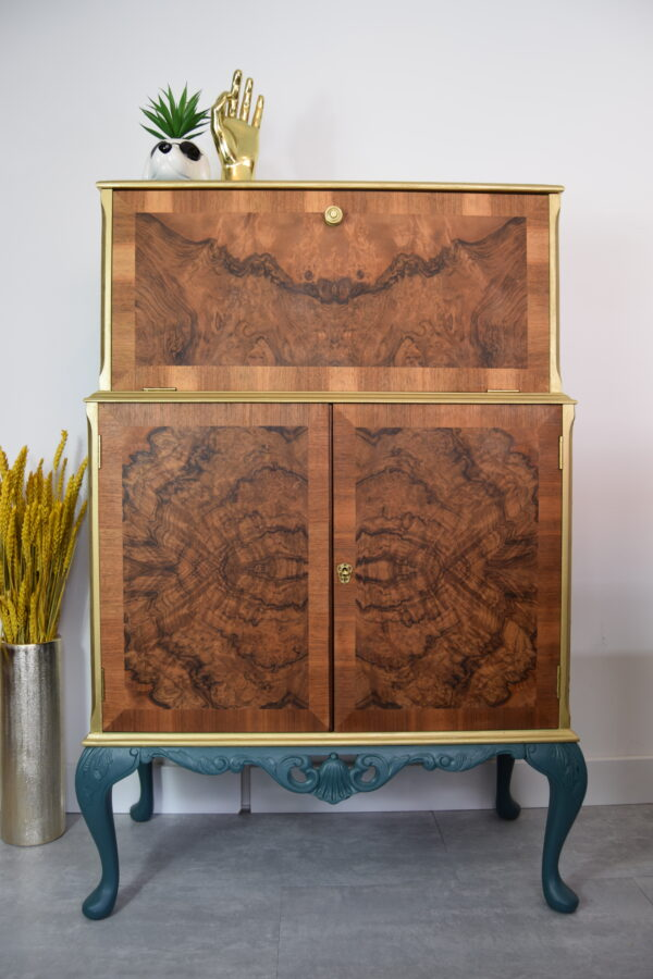 Green Gold cocktail cabinet Lollipop Interiors scaled
