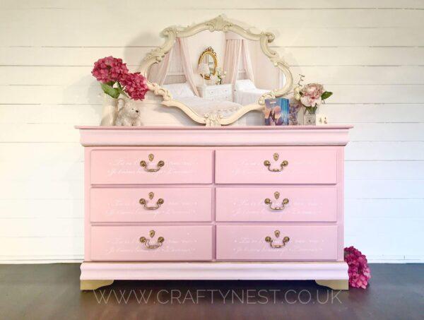 pink dresser autentico paint chalk paint crafty nest scaled
